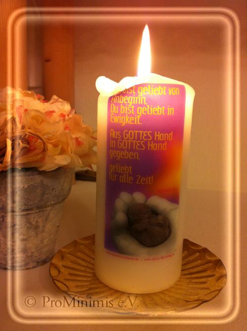 Weltweites Kerzenleuchten für die verstorbenen Kinder am 08. Dezember 2013